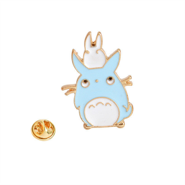 Japanese Anime My Neighbor Totoro Brooches Metal Enamel Pin Badge For Women - Shopy Max