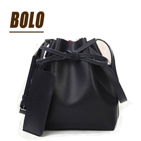 BOLO Brand!Fashion 2015 candy color fashion all-match bucket bag pu