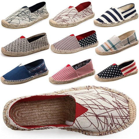 2016 Comfortable Men Women Shoes Unisex Espadrilles Patchwork Suede weave