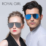 ROYAL GIRL New Fashion Reflective Sunglasses Women Brand Designer Mujer
