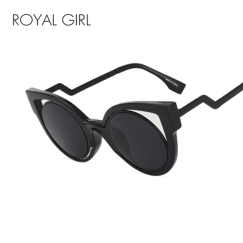 ROYAL GIRL New Luxury Brand Designer Classic  Cat Eye Style Sunglasses Women Vintage Round Sun Glasses Gafas de sol ss540