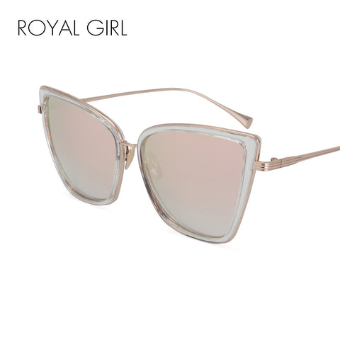 ROYAL GIRL New Fashion Women Cat Eye Sunglasses Luxury Brand Designer Alloy