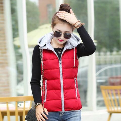 2016 autumn winter design down cotton-padded short jacket vest women's