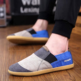 Weweya Brand Patchwork Mens Casual Shoes Canvas Fashion Denim Shoes Men Summer Soft Moccasins for Men Espadrilles Shoes Men