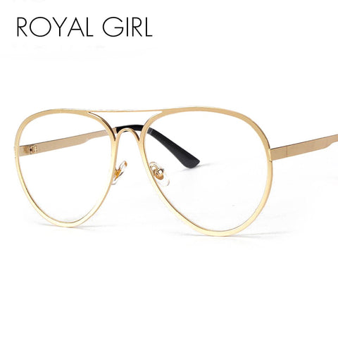 ROYAL GIRL 2017 NEW Sunglasses Eyeglasses Frames Top Flat Women Metal Spectacles Glasses SS075