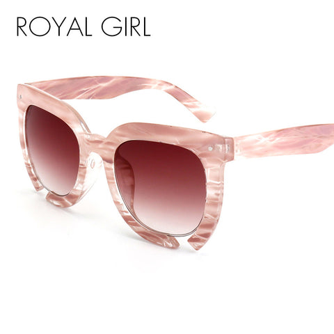ROYAL GIRL New Fashion Women Sunglasses Acetate Thick Frame Round Sun glasses Women Brand Designer ss358