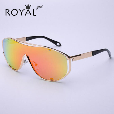 ROYAL GIRL New Fashion Women Sunglasses Punk Vintage Oversize Men Square Sunglasses Brand Designer Sunglasses UV400 SS199