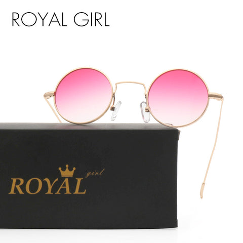 ROYAL GIRL New Round Sunglasses Gradient Lens 2017 Brand Designer For Female Ultra-light Women Eyewear SS232