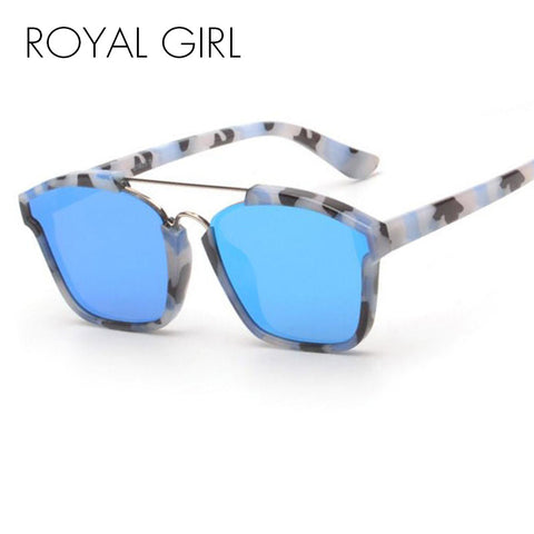ROYAL GIRL New Fashion Sunglasses Women Brand Designer Square Mirror Sun