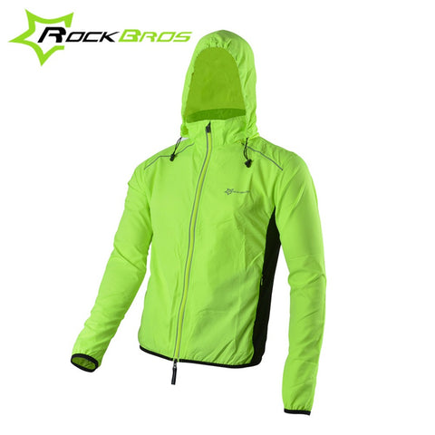 ROCKBROS Reflective Breathable Bike Bicycle Cycling Cycle Long Sleeve Rain Wind Coat