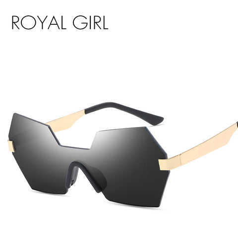 ROYAL GIRL NEW rimless women Sunglasses retro siamesed mirror lens designer Sun shades ss212