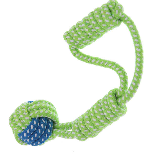 LemonBest Cotton Dog Rope Toy Knot Puppy Chew Teething Toys Teeth Cleaning