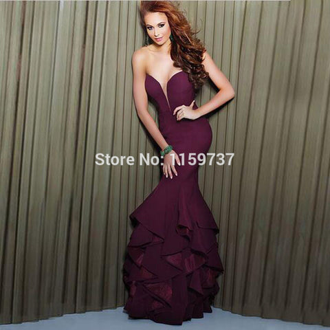 2016 Prom Party Evening Dress Purple Design Off Shoulder Floor Length