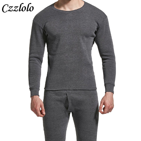 Czzlolo Winter Men Long Johns Thicken Mens Thermal Underwear Sets