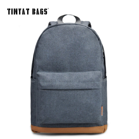 TINYAT Men's 15 inch laptop backpack computer male school backpacks rucksacks