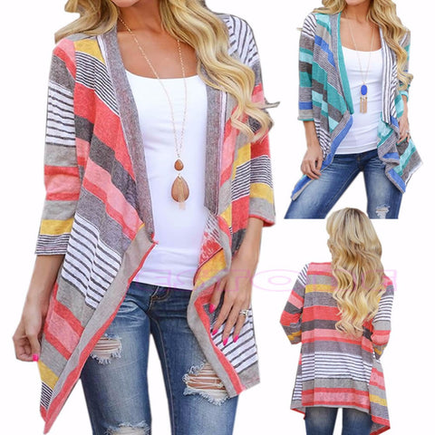 Boho Coat Womens Knitted Cardigan Loose Sweater Outwear Long Sleeve Jacket Coat