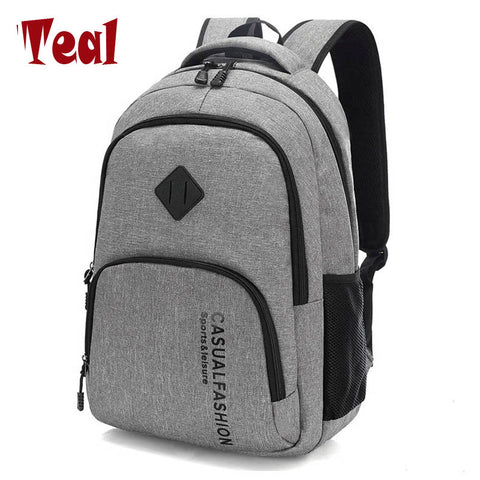 2017 New Fashion Men's Backpack Bag Male Canvas Laptop Backpack Computer Bag high school student
