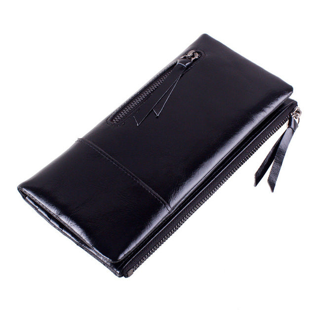 DUDINI Fashion Genuine Leather Women Wallet Female Fashion Real Cowhide Wallet Long Design