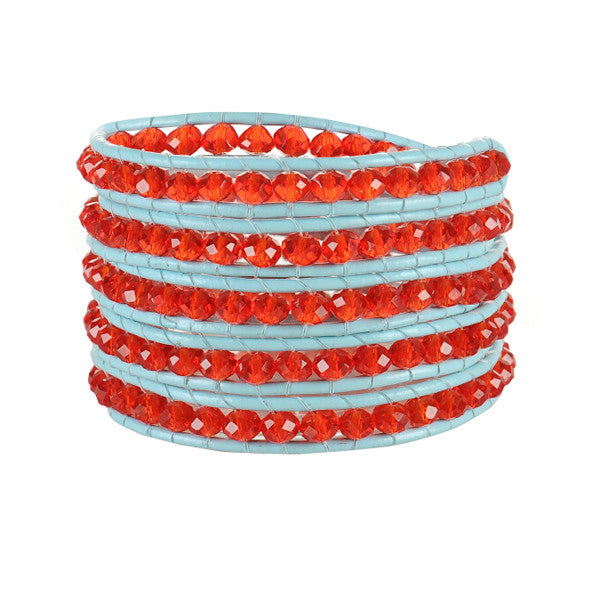 Red Gem Wrap Bracelet