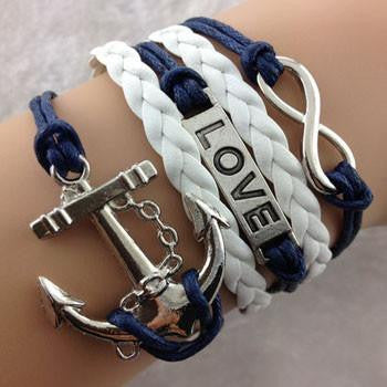 Infinity Love Anchor Bracelet