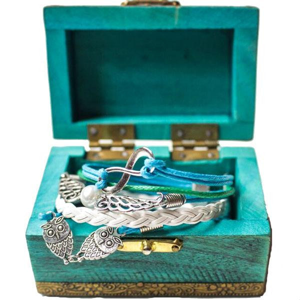 Blue Angel Wings Bracelet