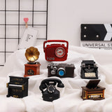Creative MINI Retro Radio Pianos Cameras Telephone Model Antique