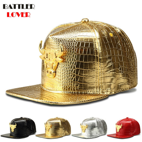 2016 New Design 2 Colors Women Men Bones Snapback Hats Fashion Bull Fitted Baseball Cap