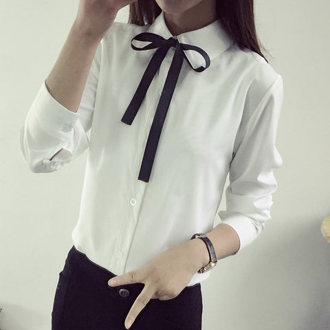 2016 spring and autumn New Fashion women blouse slim blouse ol blouse long-sleeve