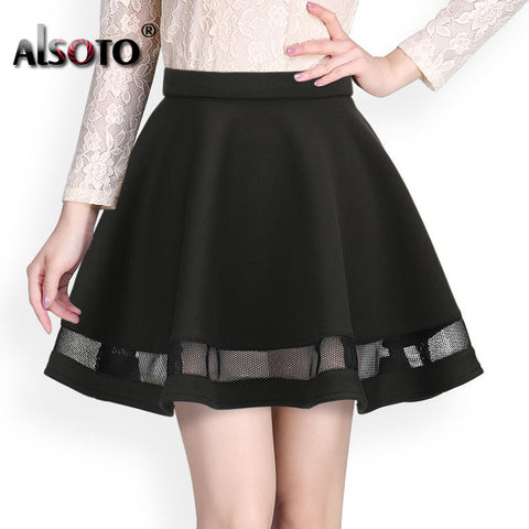 Fashion Grid Design women skirt elastic faldas ladies midi skirt  Sexy Girls