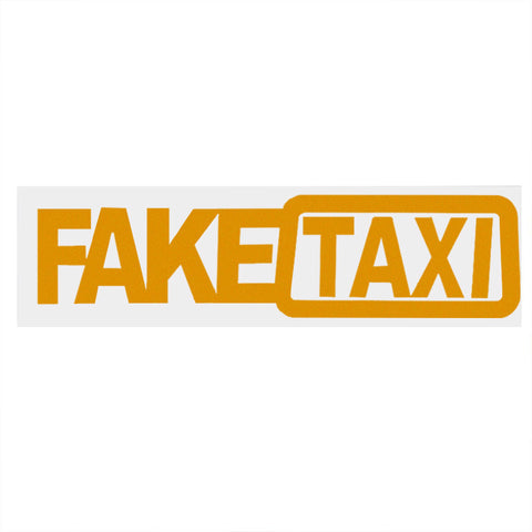 FAKE TAXI Car Sticker Reflective Car Stickers and Decals Funny Window Car Styling Decals 20x5cm