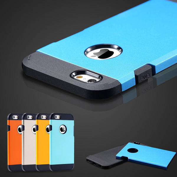 the latest 8c53c a2a84 For Apple Iphone 6 6S Plus Case Covers Luxury Ultra Thin 2 In1 Armor Shell  TPU+PC Hard Back