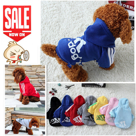 Dog Clothes Pets Coats Soft Cotton Puppy Dog Clothes Adidog Hoodies Clothes