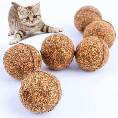 3pcs/lot Cat Toy Natural Catnip Ball, Menthol Flavor, Cat Treats, 100% Edible Cats-go-crazy Treats