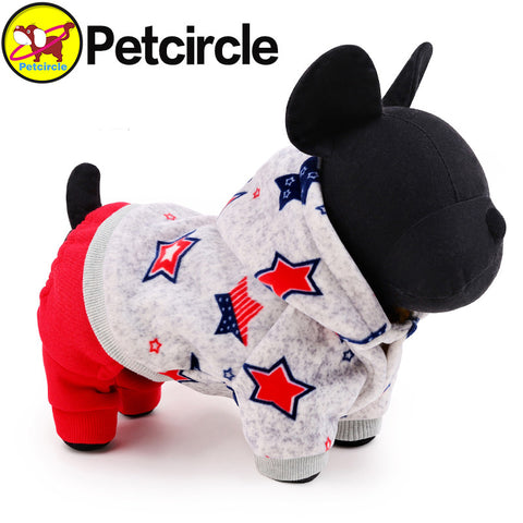 petcircle new arrivals pet dog clothes lucky star dog winter coat small and large dog hoodies