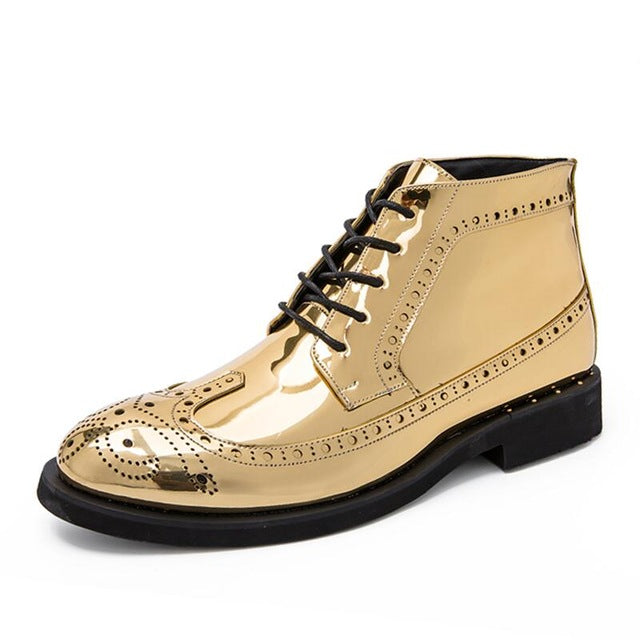 Vancat New Autumn winter Men's Dress Boots Business Men Boots Leather Men shoes