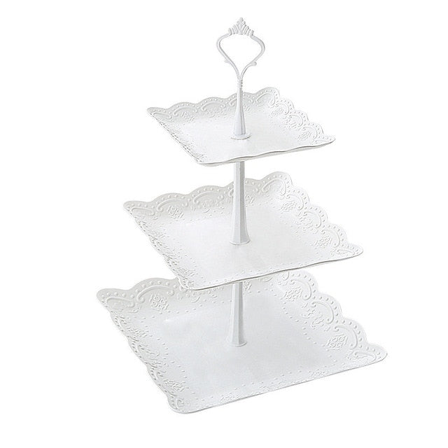 europe tray Plastic Serving Platter Cake Stand trayDessert tray square candy pan Tea