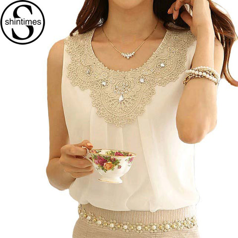 Blusas Femininas Women Tops And Blouses 2016 New Fashion White Casual Shirt Women Chiffon