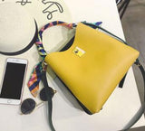 Women Ribbon Summer Handbag PU Leather Bucket Fashion Women Bag Bolsa Ladies