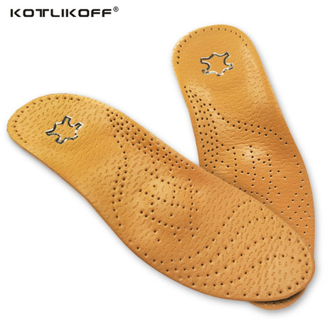 KOTLIKOFF High quality Leather orthotics Insole for Flat Foot Arch Support