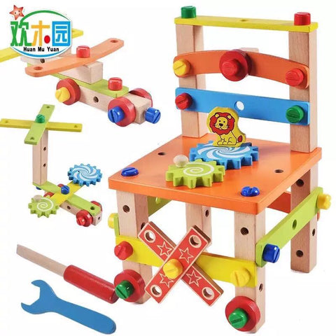 Montessori for kid Children's educational toys Chair designer