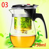 High quality Heat Resistant Glass Teapot Chinese kung fu Tea Set Puer Kettle Coffee Glass Maker Convenient Office Tea Pot