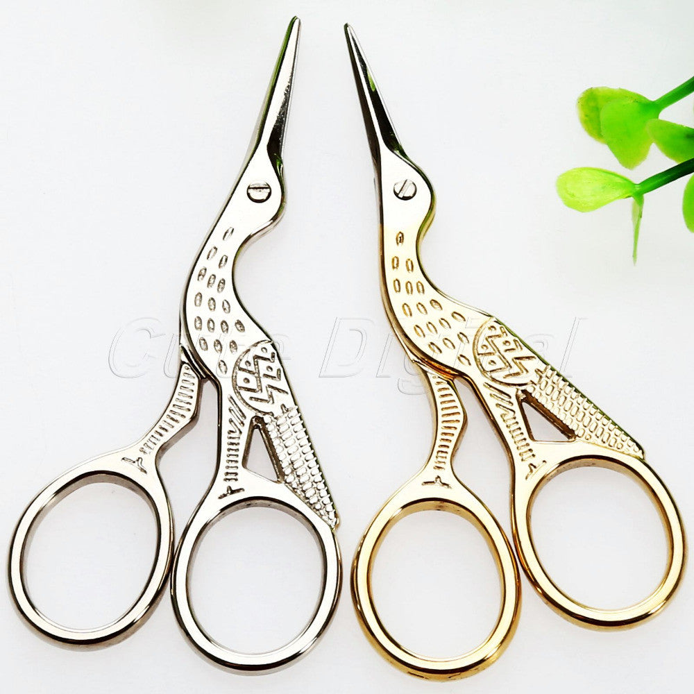 1Pc Vintage Stainless Steel Embroidery Sewing Tools Crane Shape Stork Measures Retro - Shopy Max