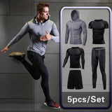 Men's Compression Sportswear Suit GYM Tights Sports training Clothes Suits workout jogging