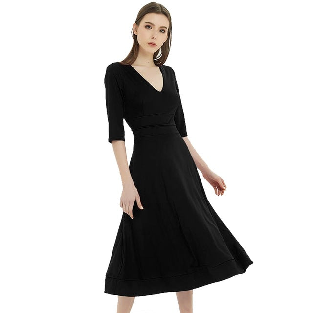 VENFLON Women Summer Dress 2019 Plus Size Casual Elegant Ball Gown Female Sexy