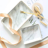 Nordic Style Marble Painting Phnom Penh Ceramic Jewelry Plate Ring Necklace Cosmetic Snack Dried