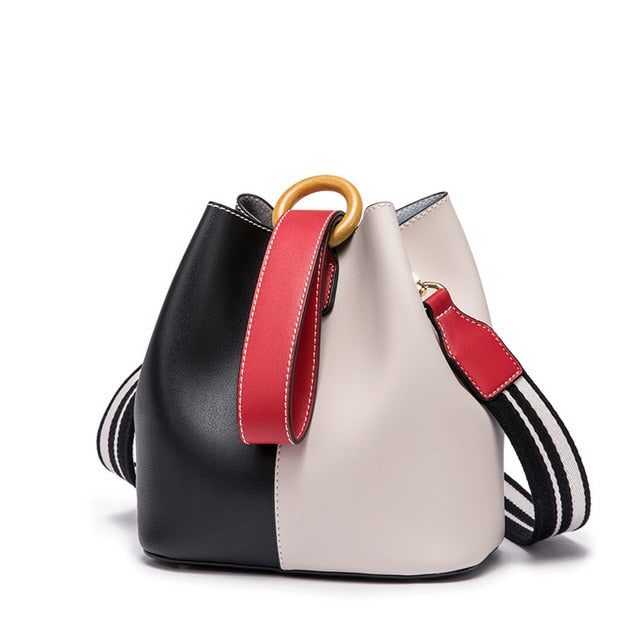AOEO Korean Version Of The Fashion Color Bucket Bag For Women 2019 New Women