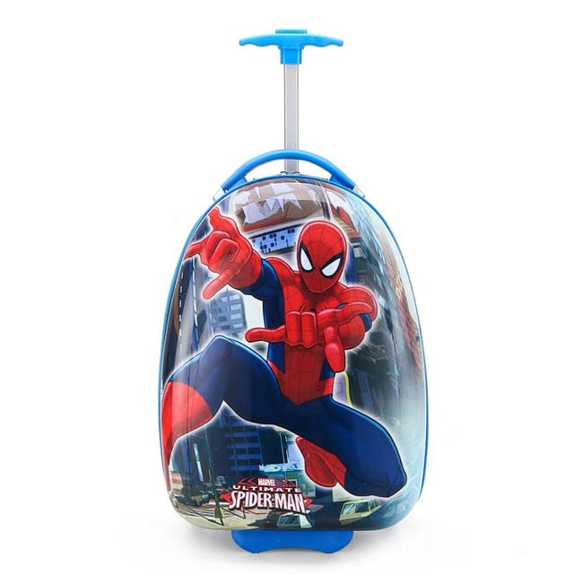New Children's Hardside Luggage Cartoon Suitcase Boy Cabin Rolling Luggage Student
