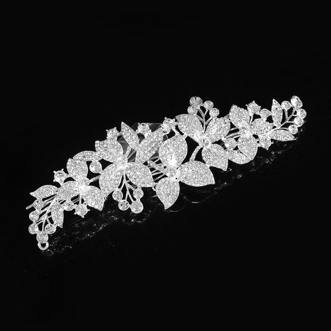 Elegant Huge Wedding Hair Combs For Bride Crystal Rhinestones Pearls Women Hairpins Bridal Headpiece Hair Jewelry Accessories