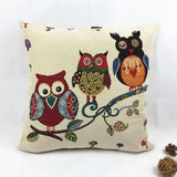 18'' Hot Sale Cotton Linen Owl Bird Throw Pillow Case OW172 - Shopy Max