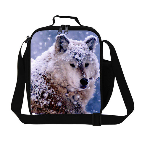 Best wolf print lunch boxes for kids,zoo animal teen lunch bags,personalized food
